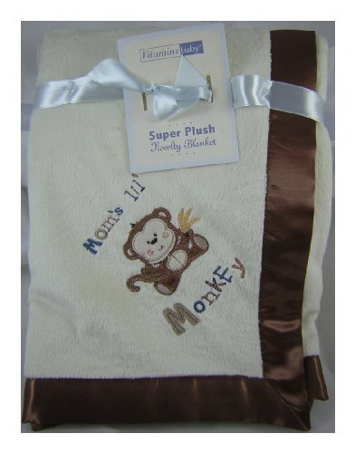 Vitamins Super Plush Novelty Blanket - Mom's Lil' Monkey
