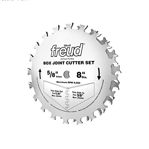 Freud Box Joint Cutter Set, Cuts 1/4 In. and 3/8 In. Joints (SBOX8) (Freud Tools compare prices)