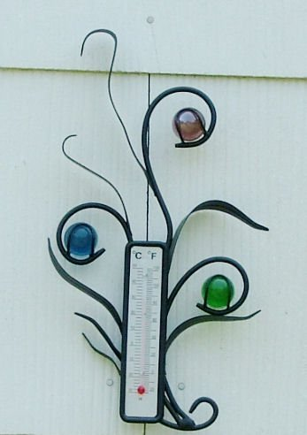 Buy Marbled Leaves Wrought Iron Decorative Thermometer and Hose Guide Gift Set