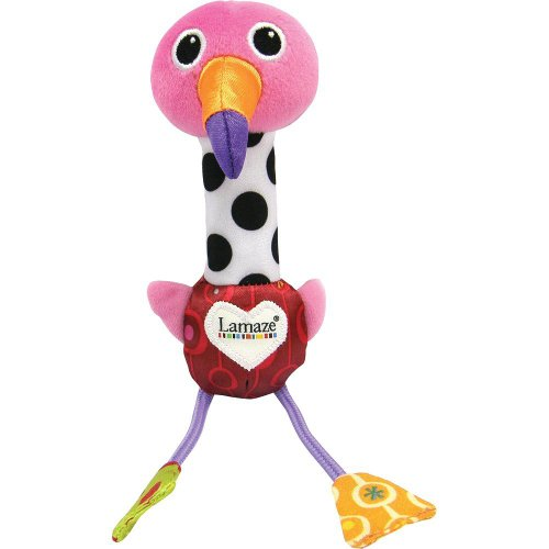Lamaze Baby Toy, Cheery Chirpers Flamingo back-1006699