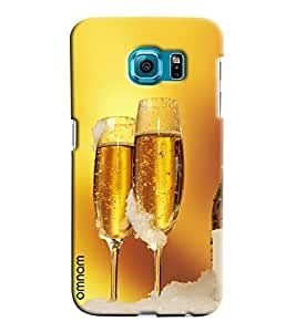 Omnam Super Chilled Beer In Glasses Printed Designer Back Case Samsung Galaxy S7