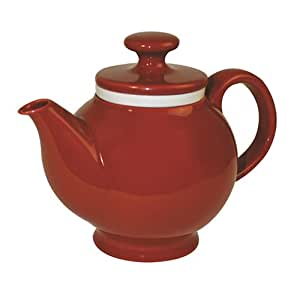 Chantal Ceramic 3-Cup Ginger Teapot with Porcelain Infuser, Glossy Red