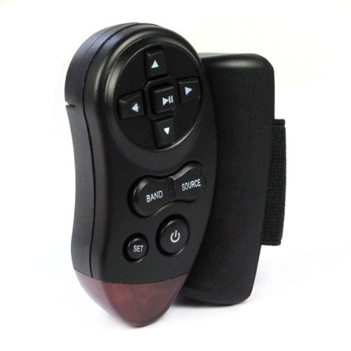 Amshop New Universal Steering Wheel Ir Remote Control For Car Cd Dvd Tv Mp3 Player