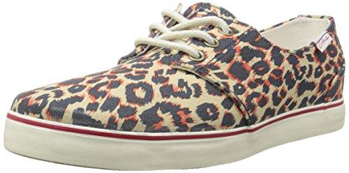 C1RCA Crip Skate Shoe, Leopard/Bone White, 9 M US