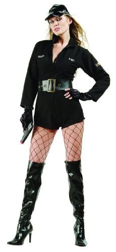 Adult Sexy Federal Agent Costume Size Large (8-10)