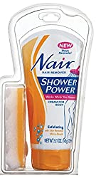 Nair Shower Power Hair Removal Body Wash with Bath Sponge 145gm with Ayur Lotion