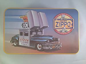 "1998 Limited Edition Zippo Collectible Tin w/ 1947 Chrysler Saratoga New Yorker Car ""The Zippo Car"""