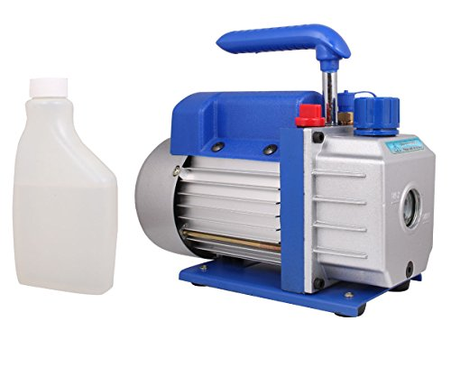 TMS 3 CFM Single-stage Rotary Vane Vacuum Pump R410a R134 Hvac A/c Air Refrigerant (Rotary Vane Vacuum Pump Oil compare prices)