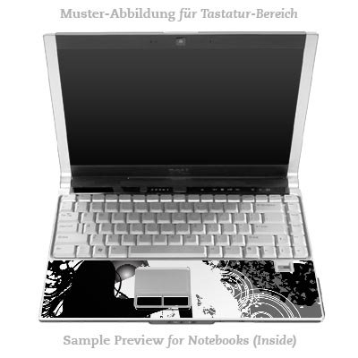 Design Skins für DELL Latitude D530 Inlay (Tastatur) - Dance On Design Folie
