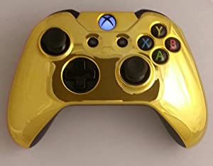 Gold Chrome Xbox ONE Controller Shell - Front Cover: Video ...