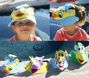 Sprint Aquatics Water Pool Children's Animal Visors - Pack of 2