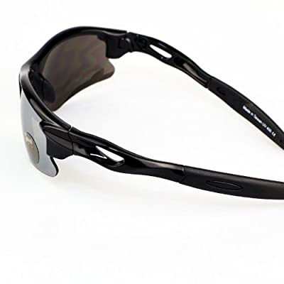 Real Kids Shades Black Sweep Polycarbonate White Blue Mirror Lens 7+ Sunglasses