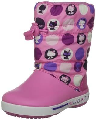 Crocs Junior Crocband Ii.5 Gust Boot Hello Kitty Circles Pink Lemonade/Purple Snow Boot 12945-6G6-131 1 UK