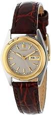 Seiko Womens SWZ156 Brown Leather Strap Watch