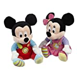 Disney Baby Mickey and Minnie Mouse Soft Toy 9''
