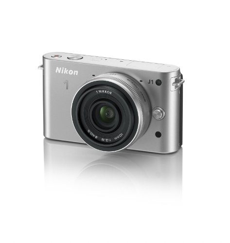 Nikon 1 J1 Compact System Camera with 10mm Lens Kit - Silver (10.1MP) 3 inch LCD