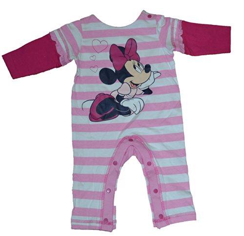 Disney Infant Minnie Mouse Pink Stripe Romper Onesie (6-9 Months) front-561094