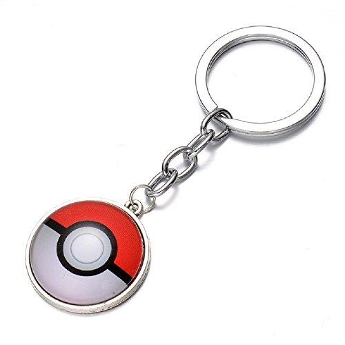 Colgante-Llavero-Con-Pokemon-BalN-CabujN-Empuje-Ir-Pokeball-Blanco-Y-Rojo