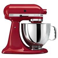 Red Kitchenaid mixer