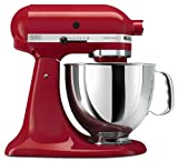 KitchenAid KSM150PSER Artisan Series 5-Quart Mixer, Empire Red