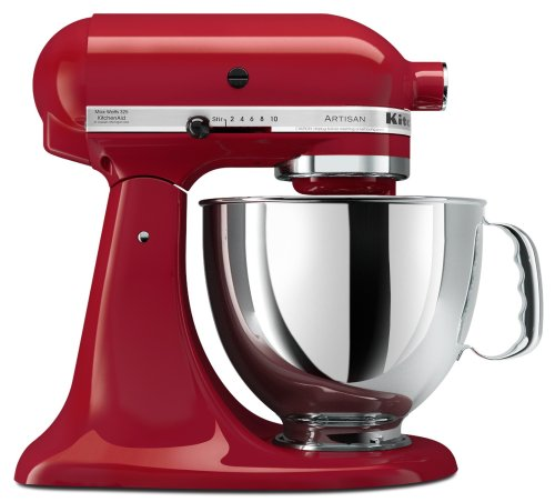 KitchenAid KSM150PSER Artisan Series 5-Quart Mixer, Empire Red (050946872902)