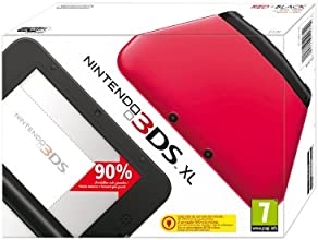 Nintendo 3DS - Consola XL, Color Rojo Y Negro