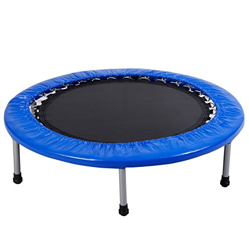 Giantex 38'' Mini Band Trampoline Safe Elastic Exercise Workout w/ Padding & Springs