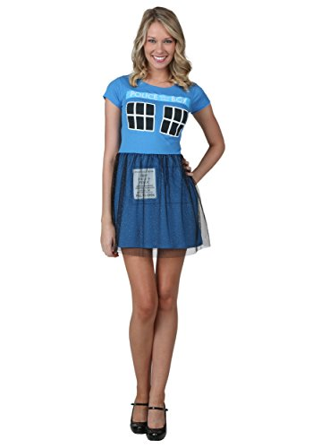 Mighty Fine Womens Doctor Who Tardis Ballerina Dress X-Large