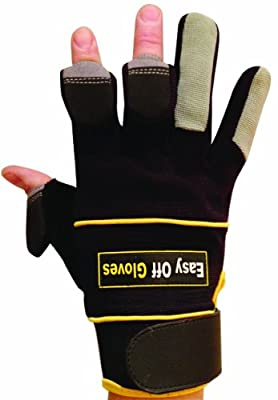 Specialist (Fold-Back Finger Tips) Gloves by Easy Off Gloves - As seen in The Daily Mirror, The Sun & as worn by Iwan Thomas MBE - Ideal for Riding, Shooting, Fishing, Gym, Weightlifting, Gardening, Photography, Paintball, DIY & Work Wear-Size 8 (S) from