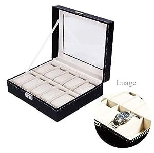 Macks.i 腕時計 収納ケース 10本用 コレクション ケース ウォッチ ボックス ブラック