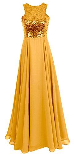 eee0bacad6 MACloth Women Sequin Chiffon Long Wedding Bridesmaid Dress Formal Evening  Gown (18w