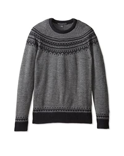 French Connection Men's Slub Fairisle Sweater
