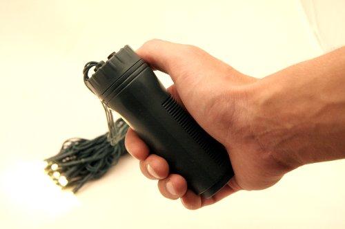 10 x LED Lichterkette warm weiss, Aussen, 30-teilig batteriebetrieben Dauerbetrieb und Blinkfunktion möglich
