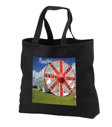 Tb_81499_1 Danita Delimont - France - Machine To Cut Tunnel, Monument, Calais, France - Eu09 Dfr0408 - David R. Frazier - Tote Bags - Black Tote Bag 14W X 14H X 3D front-1013333