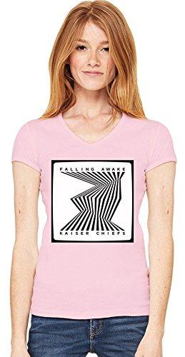 Kaiser Chiefs Falling Awake Scollo a V T-shirt da donna Women V-Neck T-Shirt Stylish Fashion Fit Custom Apparel By Genuine Fan Merchandise Medium
