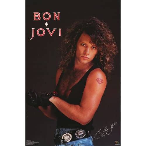 Amazon.com: Jon Bon Jovi Poster Chest Shot Superman Tattoo John