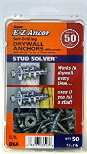 Itw Brands 25316 EZ Ancor 50-Pack #50 Plastic Drywall Anchors - Quantity 6