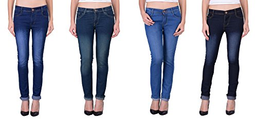 London-Looks-Lady-Slim-Fit-Multi-Color-Jeans-Combo-of-4