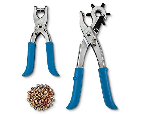 tchibo-orificio-de-y-remachadora-remachadora-con-100-remaches-sacabocados-azul