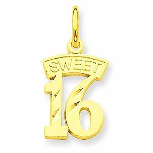 14K Sweet 16 Charm