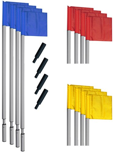 """Champion Sports World Cup Soccer Corner Flag Set, 72"""", Red/Yellow/Blue"""