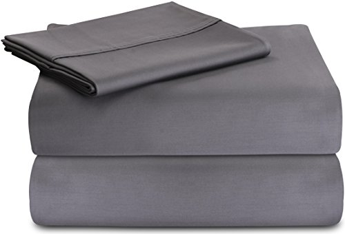 Utopia Bedding Premium 100% Cotton Bed Sheet Set (Twin, Grey) - 3 Piece Bedding Set, Flat Sheet, Fitted Sheet and 1 Pillow Case