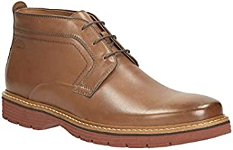 Clarks Mens Smart Newkirk Top Leather Boots In Tobacco