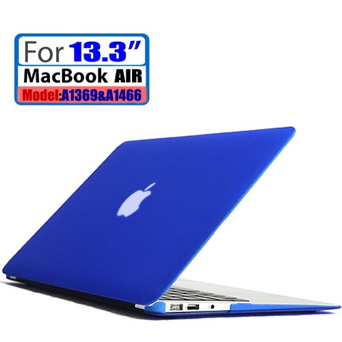 """Leimi ® Air 13-Inch Rubberized Hard Matte Case Cover For Apple Macbook Air 13.3"""" (Models: A1369 And A1466) (Matte-Deep Blue)"""