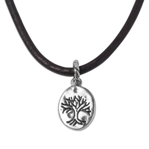 Tree of Life Pendant on Leather Cord