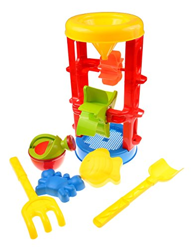 MOLITONG Plastic Sand and Water Wheel Set Toy