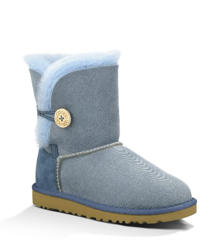 Cheap UGG Australia Children's Bailey Button Denim Toddler Shearling Boots (B007681JEA)