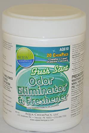 Aqua ChemPacs AQ610 Fresh Scent Odor Eliminator & Air Freshener, 1.6-Ounce Packet (20 Count)