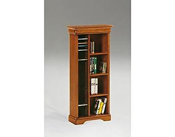 Mobile libreria porta cd in legno arte povera