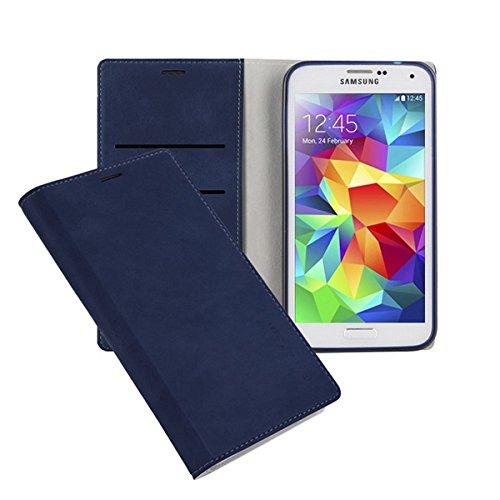 Galaxy S4 ケース Arium Boston Flip Case ギャラクシー S4 手帳型 ビュー フリップ ケース ネイビー(Navy) / SC-04E 携帯 スマホ スマートフォン モバイル ケース カバー ダイアリー 手帳 ケース カード 収納 ポケット スロット
